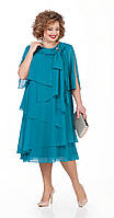 Платье Pretty-1019/1 белорусский трикотаж, бирюза, 56