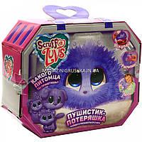 Пушистик-потеряшка мягкая игрушка, фиолетовый MP 1277