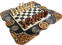 """Эксклюзивные шахматы-нарды-шашки ручной работы """"Рыси"""""""