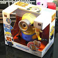 Интерактивная игрушка Говорящий Миньон Стюарт 20 см из мультфильма Гадкий Я (Посіпаки)