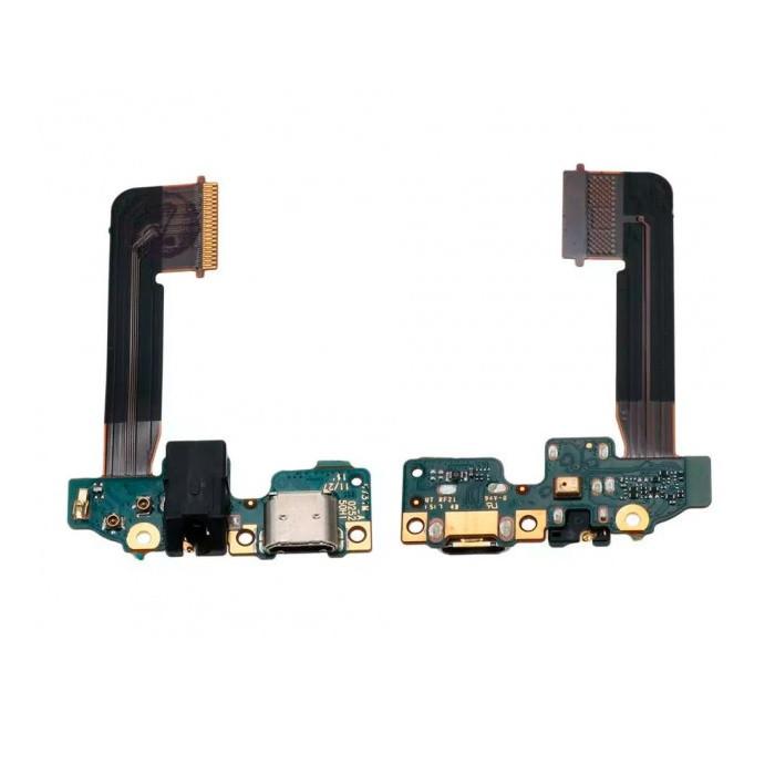 Плата нижня (плата зарядки) HTC One M9 з роз'ємом зарядки і компонентами