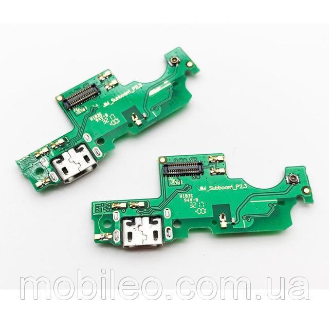 Плата нижняя (плата зарядки) Huawei Honor V9 Play с разъемом зарядки и компонентами