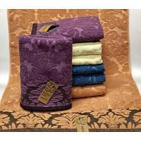 Банные полотенца для ванны, комплект полотенец для дома, полотенце 140х70 см махра ВЕНЗЕЛ. ТЕСНЕНКА.