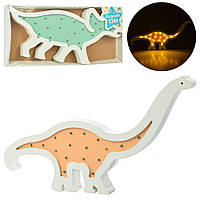 Деревянная игрушка ночник Динозавр Bambi MD 2224