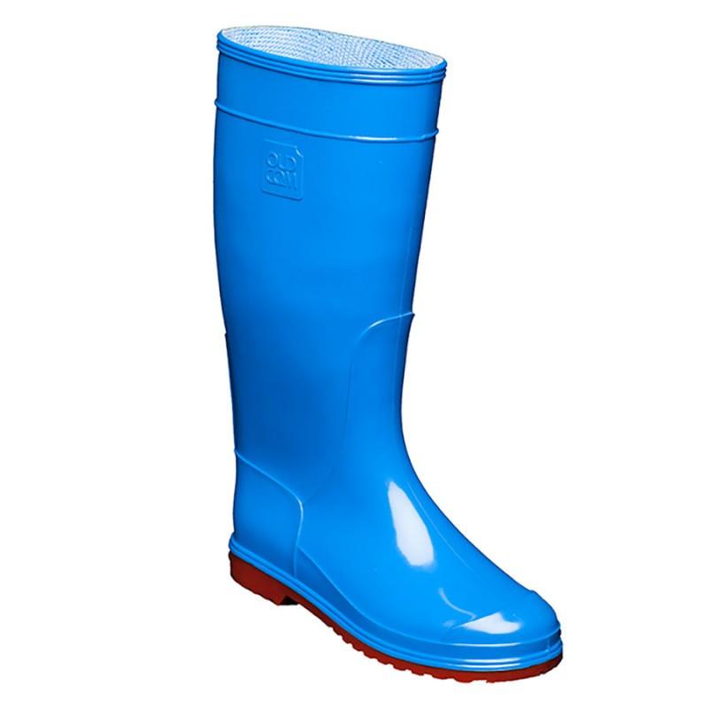 Сапоги резиновые OLDCOM женские Vivid синие с красной подошвой