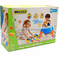 Столик Wader с набором конструктора, 42 дет (41490)