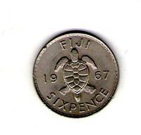 Фиджи 6 пенсов 1967 год Елизавета №56