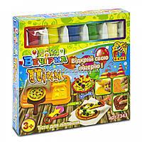 Тесто для лепки FUN GAME «Вечеринка пиццы» (7343), 5 баночек, формочки, посуда