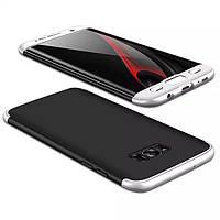Чохол GKK 360 для Samsung Galaxy S8 / G950 бампер накладка Black-Silver