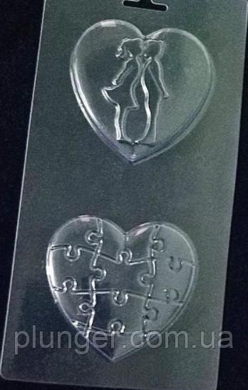 Форма пластиковая для шоколада Сердца влюбленных