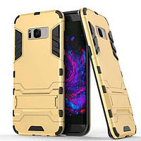 Чехол Iron для Samsung Galaxy S8 / G950 бронированный бампер Броня Gold