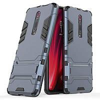 Чохол Iron для Xiaomi Mi 9T / Mi 9T Pro / Redmi K20 броньований бампер Броня Dark Blue