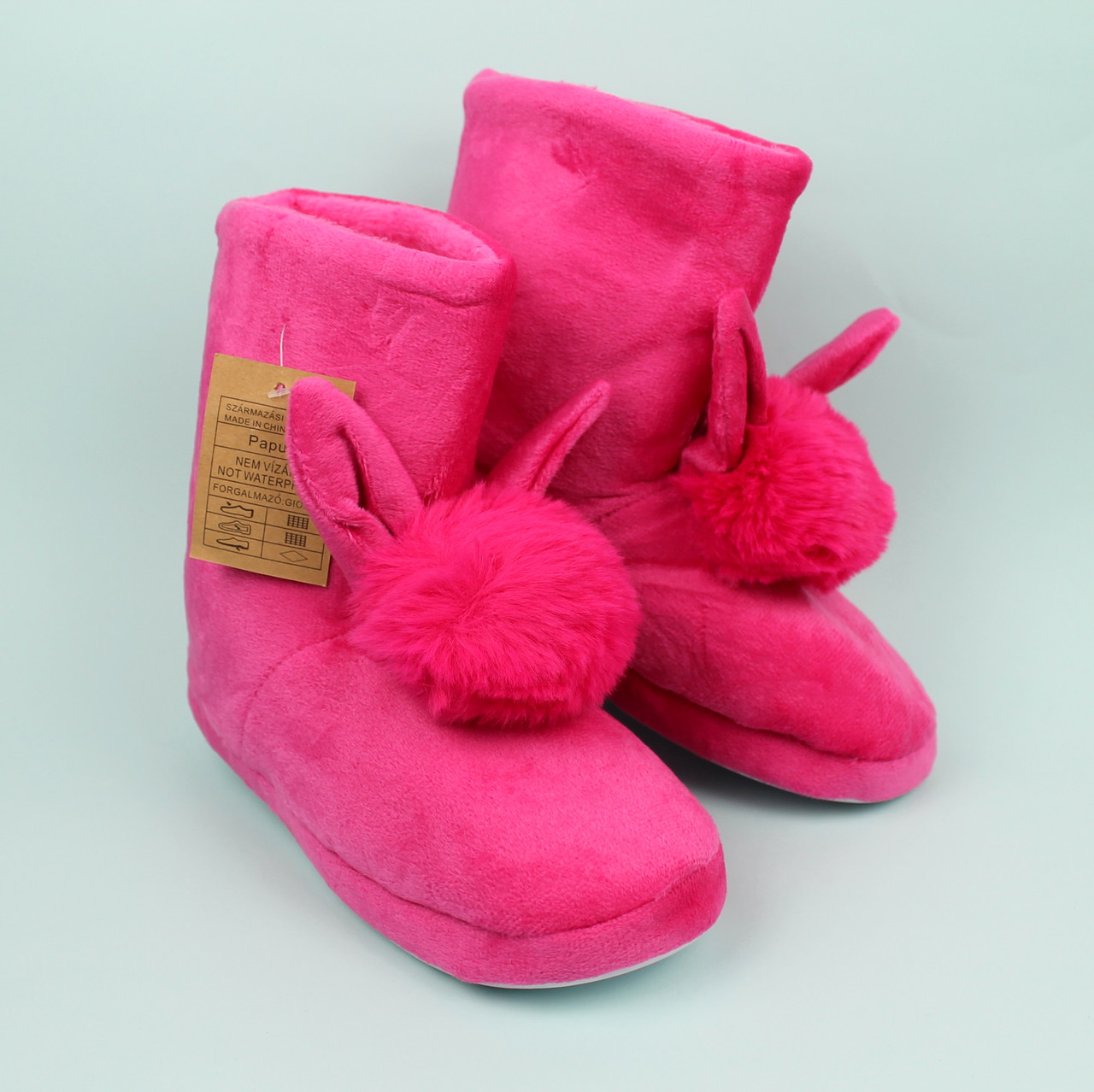 Плюшевые тапочки сапожки для девочки Ушки тм Giolan размер 36-37,40-41