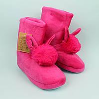 Плюшевые тапочки сапожки для девочки Ушки тм Giolan размер 36-37,40-41, фото 1