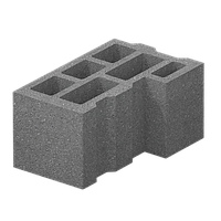 Стеновой угловой блок (400х200х200) М75