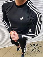 Спортивный костюм мужской в стиле Adidas Lampas X black | весенний осенний ЛЮКС