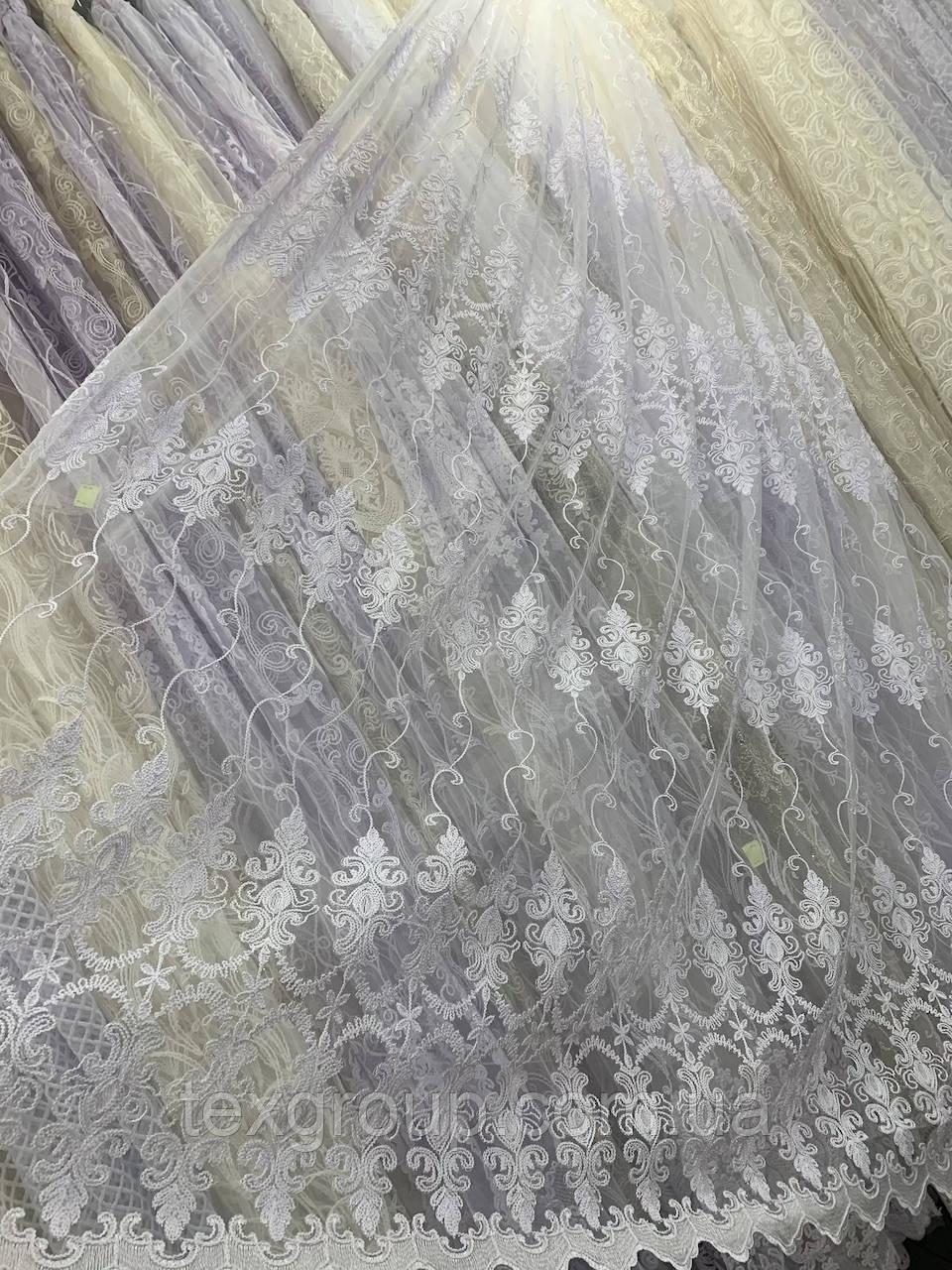 Тюль корт 1524 белая