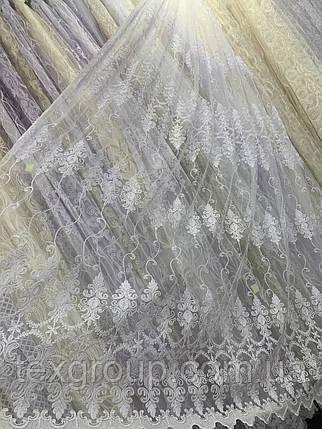 Тюль корт 1524 белая, фото 2