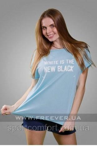 Женская футболка freever бирюза