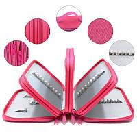 Пенал на 4 отделения, розовый, Пенал на 4 відділення, рожевий, Пеналы школьные, Шкільні пенали