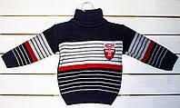 Вязаный свитер на мальчика 1.2.3 года