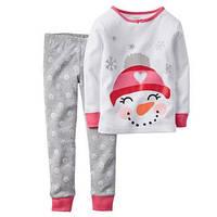 """Пижама для девочки """"Снеговик"""" 2,3,4,5Т, фото 1"""