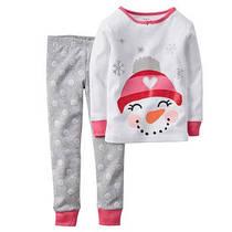 """Пижама для девочки """"Снеговик"""" 2,3,4,5Т"""