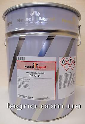 Лак акриловий Hesse Lignal DE42154 напівматовий (блиск 20-25 глосс), комплект лак+затверджувач 27,5 л, фото 2