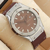 Часы мужские наручные Hublot Big Bang AA quartz Brown/Silver/Brown, фото 1