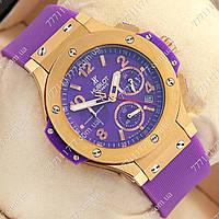 Часы мужские наручные Hublot Big Bang AAA Purple/Gold/Purple, фото 1