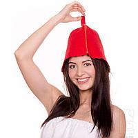Шапка для бани и сауны Fassbinder™ цветной войлок (красный)