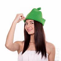 Шапка для бани и сауны Fassbinder™ цветной войлок (зелёный)