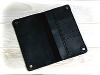 Мужской портмоне из натуральной кожи Cavallo™ Crazy Horse Classic, черный, фото 1