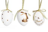 Набор (6шт) пасхальных украшений на подвесе Яйцо 6см 781-988