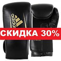 Боксерские перчатки Adidas SPEED 75 (ADISBG75-BKGD, Черно-золотой)