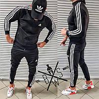 ЛЮКС! Спортивный костюм мужской Adidas Olimp Х Black Олимпийка + штаны / осенний весенний