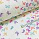 Фланелевая ткань бабочки фиолетово-бирюзовые на белом (шир. 2,4 м) ОТРЕЗ9 0,5*2,4), фото 3
