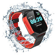 Смарт-часы детские JETIX DF50 Ellipse OLED с Wi-FI и Защитой от воды IP67 (Black-Red), фото 2