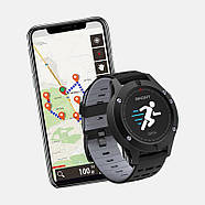 Часы спортивные JETIX F5 с GPS трекером (Black Grey), фото 2