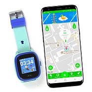 Cмарт-часы детские JETIX DF25 LightStrap с GPS маячком и валогазащитой IP67  (Blue), фото 2