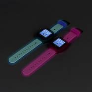 Cмарт-часы детские JETIX DF25 LightStrap с GPS маячком и валогазащитой IP67  (Blue), фото 3