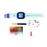 Cмарт-часы детские JETIX DF25 LightStrap с GPS маячком и валогазащитой IP67  (Blue), фото 4