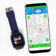 Смарт-часы детские JETIX Q90 с виброзвонком и WiFi (Dark Blue), фото 2