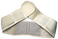 🔝 Пояс для поясницы. Используется и как ,пояс для поддержки спины.Турмалиновый, бежевый.До 110 см. , Пояс для спини