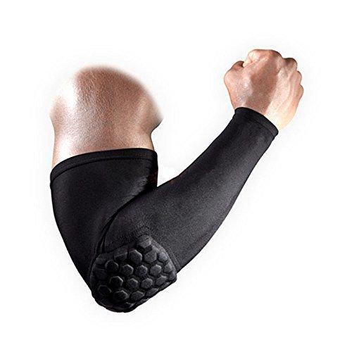 Компрессионный баскетбольный рукав для руки с защитой- Оригинал черный
