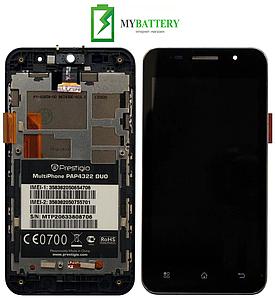 Дисплей (LCD) Prestigio 4322 с сенсором черный + рамка