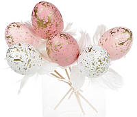 Набор (6шт) пасхального декора на стике Яйцо, 6см 743-810, фото 1