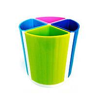 Стакан пластиковый для канцелярских принадлежностей №8040, фото 1