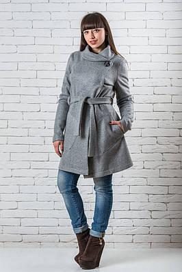 Женское пальто весна  42-52 светло-серый