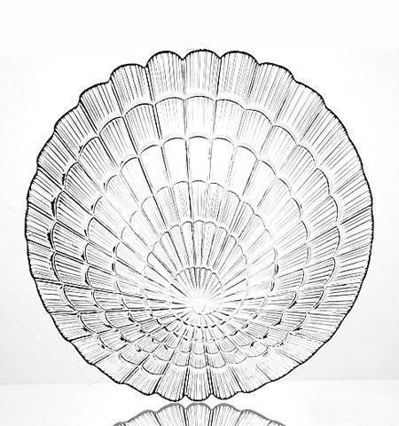 Набор 6 сервировочных тарелок Atlantis d 19 см стеклянные